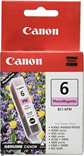 Canon BCI-6 Photo Magenta Ink Tank Compatible to iP8500, iP6000D, i9900, i9100, i960, i950, i900D, S9000, S900, S830D, S82...