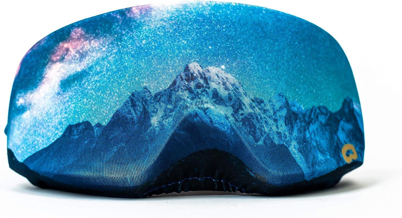 Snoggl Galaxy Sky - Funda Protectora para Gafas de esquí y Snowboard