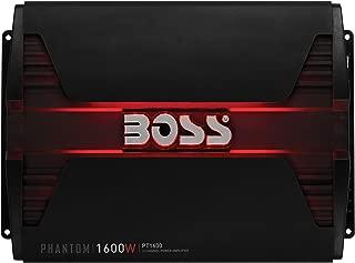 BOSS Audio PT1600 2 Channel Car Amplifier - 1600 Watts, Full Range, Class A/B, 2-8 Ohm Stable, Mosfet Power Supply, Bridgeable