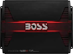 BOSS Audio PT1600 2 Channel Car Amplifier - 1600 Watts, Full Range, Class A/B, 2-8 Ohm Stable, Mosfet Power Supply, Bridgeable