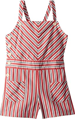 Striped Bow-Back Cotton Romper (Toddler)