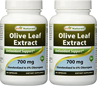 2 Pack - Best Naturals Olive Leaf Extract 700mg 90 Capsules (Total 180 Capsules)