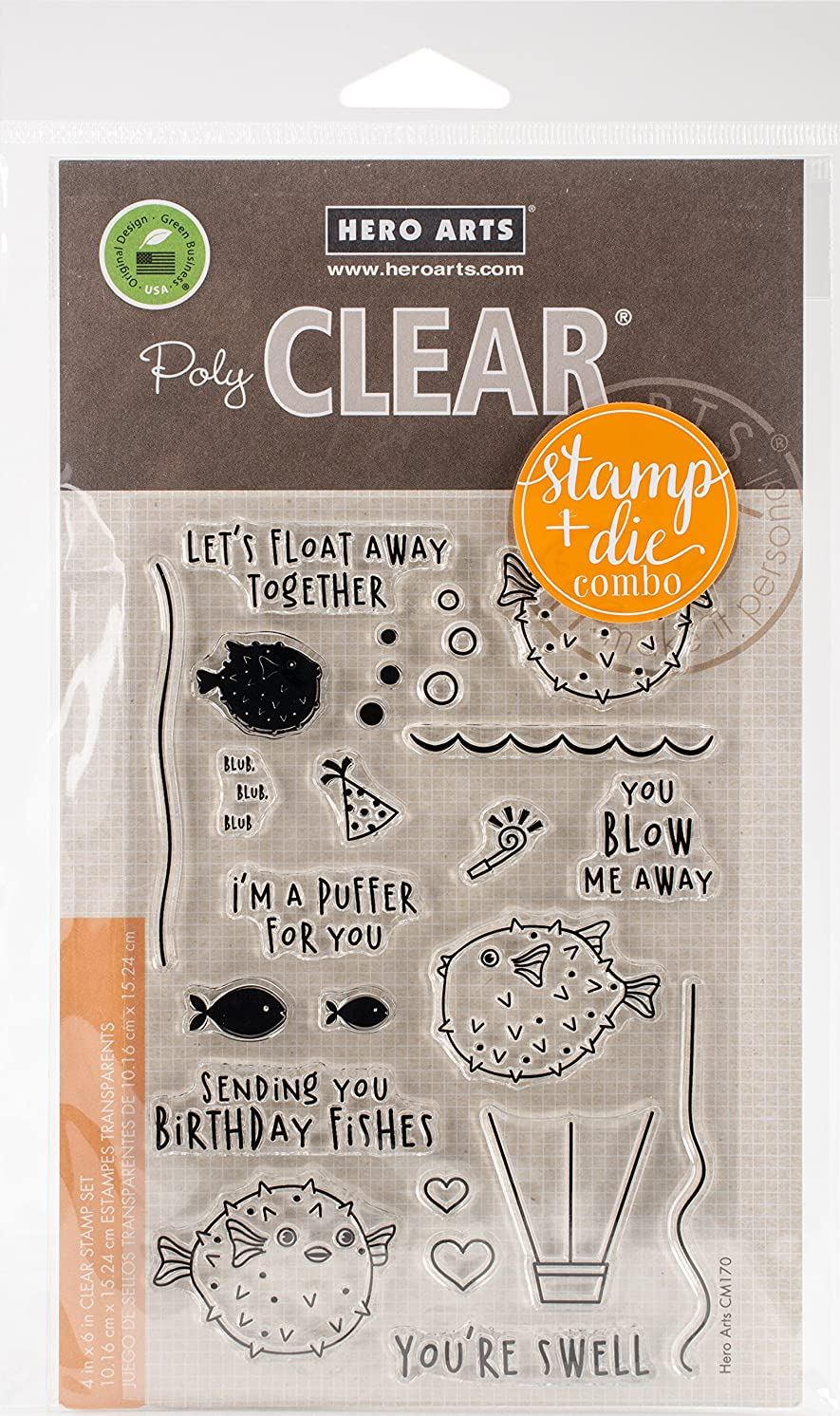 Hero Arts I'm A I'm A Puffer for You Clear Stamp & Die Combo