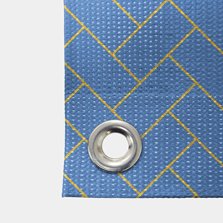 CGSignLab 12x8 Eat Stripes Blue Wind-Resistant Outdoor Mesh Vinyl Banner