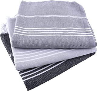 Fringe Home Turkish Beach/Bath Hammam Peshtemal Towel Set of 3 - Pre-Washed - Extra Soft 100% Natural Turkish Cotton (39