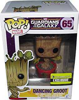 Dancing Groot Pop Ravagers Logo Exclusive Vinyl Bobble Head Figure Guardians Of The Galaxy