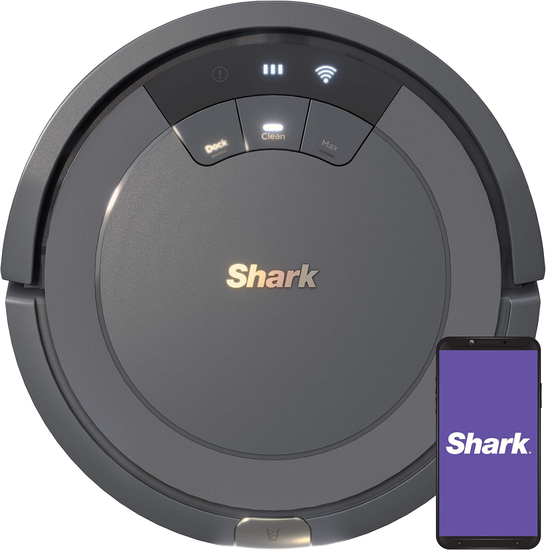 Shark ION Robot Vacuum AV753, Wi Fi Connected, 120min Runtime, Works with Alexa, Multi Surface Cleaning , Grey