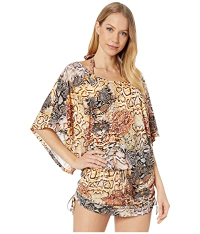 Luli Fama Skins South Beach Dress Cover-Up (Natural Snake) Women
