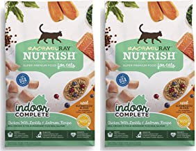 Nutrish Rachael Ray Indoor Complete Natural Dry Cat Food, Chicken with Lentils & Salmon Recipe, 3 lbs (Pack of 2)