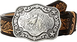 M&F Western - Floral Embossed Horsehead Buckle Belt (Little Kids/Big Kids)