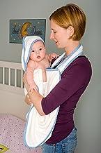 Bamboobino Apron Hooded Towel (Blue Trim)