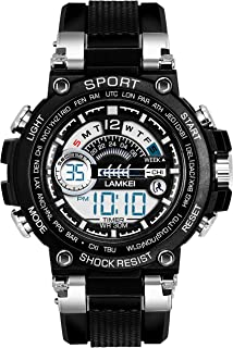 Lamkei XLAM-1322 Black Dial Black Silicone Strap Digital Multifunction Watch for Men