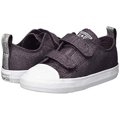 Converse Kids Chuck Taylor(r) All Star(r) 2V Ox (Infant/Toddler) (Dusk Purple/Dusk Purple/White) Girls Shoes