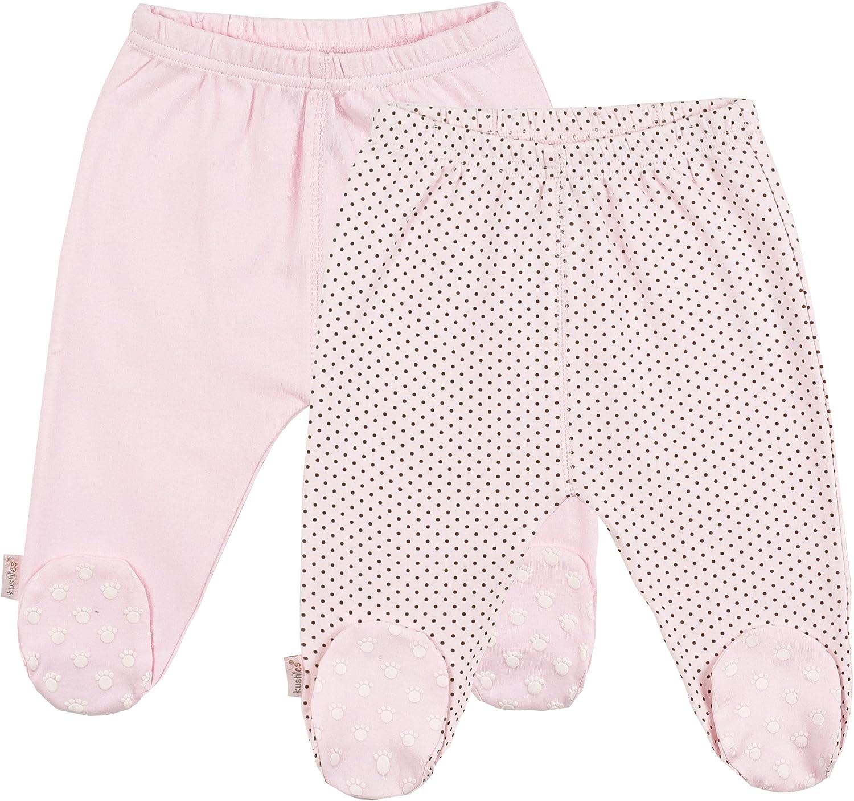 Kushies Unisex Baby Everyday Footed Sleep Pant, Pack of 2