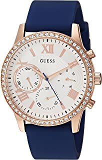 GUESS Women's U1135L3 Analog Display Japanese Quartz Blue Watch