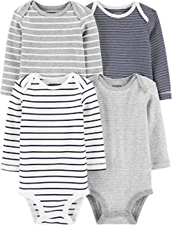 Baby Boys 4-Pack Long-Sleeve Original Bodysuits Solids