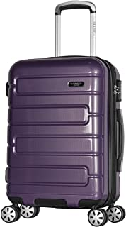 "Olympia Nema 22"" Exp. Carry-on Spinner, Purple, One Size"