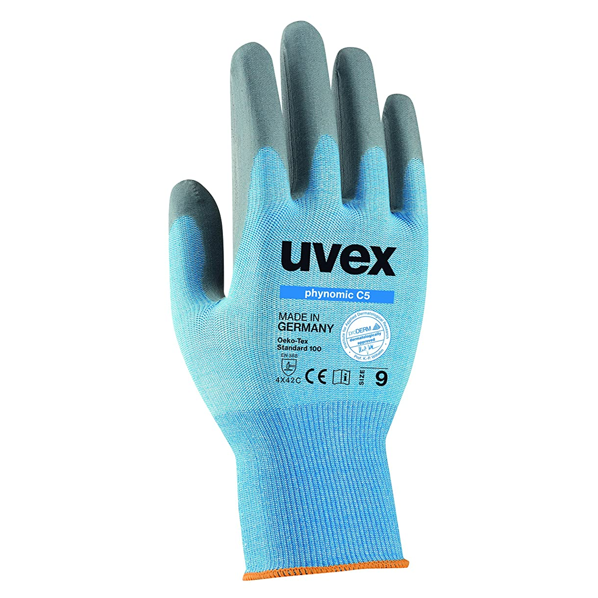 フェローシップ自動力強いuvex 耐切創手袋 phynomic(フィノミック) C5 サイズ 9(L)耐切創レベル5