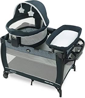 Graco Pack 'n Play Travel Dome LX Playard   Includes Portable Bassinet, Full-Size Infant Bassinet, and Diaper Changer, Leyton