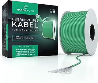 RASENWERK® - Cable perimetral universal para robots cortacésped - Cable de cobre estañado - Accesorio para robots cortacés...