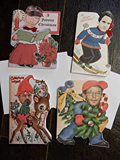 Vintage Serial Killer Christmas Cards. Set of 8 with envelopes.