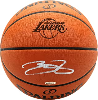 LeBron James Los Angeles Lakers Autographed Lakers Logo Spalding Basketball - Upper Deck - Fanatics Authentic Certified