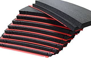 Pelican 0450 Solid Black foam, with Red Shadow foam, for tool control