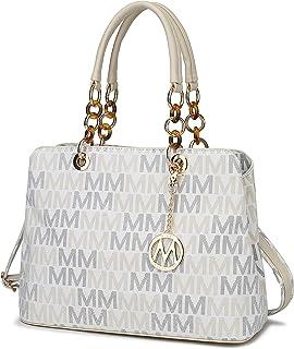 حقيبة يد نسائية من MKF Crossbody Satchel Tote - حزام حقيبة كتف - جيب من الجلد الصناعي - محفظة نسائية بمقبض علوي