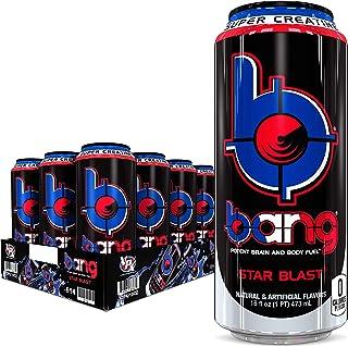 Bang Star Blast Energy Drink, 0 Calories, Sugar Free with Super Creatine, 16 Fl Oz (Pack of 12)