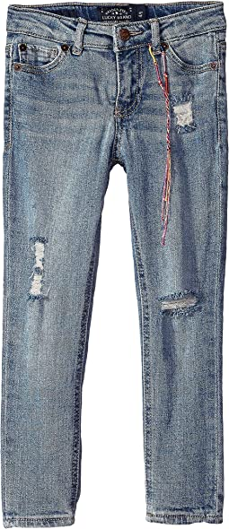 Giselle Rip and Repair Jeans in Kelly Wash (Little Kids)