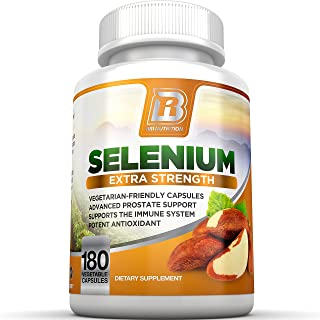 BRI Nutrition Selenium - Natural Antioxidant Supplements Helps to Fortify Immune System, Maintain Heart Health & Combat Fr...
