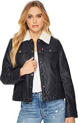 Levi's® Faux Leather Buff Cow Jacket