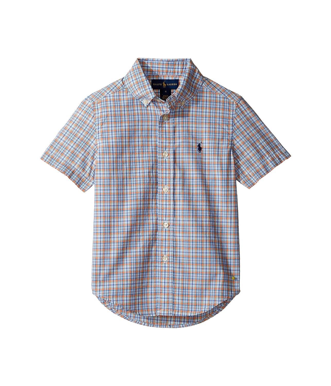 [ラルフローレン] Polo Ralph Lauren Kids ボーイズ Yarn-Dyed Poplin Short Sleeve Button Down Shirt (Little Kids/Big Kids) トップス [並行輸入品]