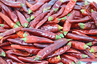 Soeos Hot Dried Chili, Szechuan Dried Chili,Dry Szechuan Pepper, Dry Chile Peppers, Sichuan Pepper, Dried Red Chilies, 4oz (Medium Hot).