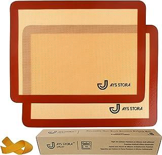 JAYS STORA® Tapis de Cuisson Silicone Prémium (X2). Feuilles de Cuisson 40 x 30 cm antiadhérentes et réutilisables. Tapis ...