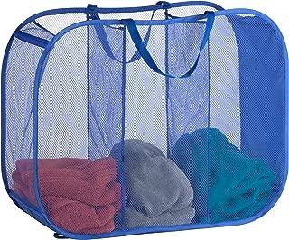 Honey-Can-Do Mesh Triple Sorter Laundry Basket, 30