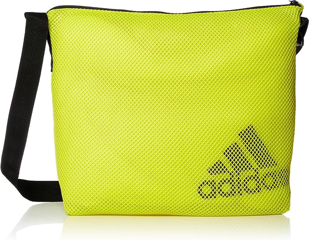 Adidas w st easy shop - borsa a tracolla da donna rete 100% poliestere riciclato GM4542