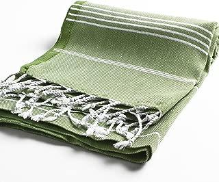 PestemalTurkish Bath Towels 37x70 %100 Cotton by Cacala Olive green - PES-CEP-OLIVEGREEN