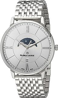 Maurice Lacroix - Reloj Analógico para Hombre de Cuarzo con Correa en Acero Inoxidable EL1108-SS002-110-1