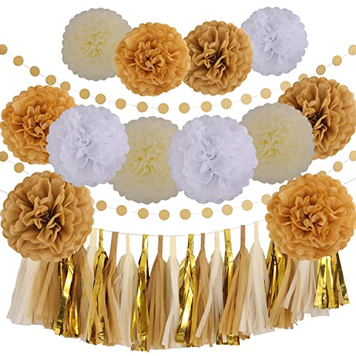 White And Gold Party Decorations Amazoncom