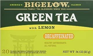 Bigelow Tea Green Tea with Lemon, Decaf, 20 ct