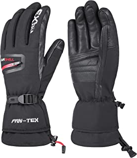 EXski Waterproof Windproof Mens Ski Gloves Winter Thermal 3M Thinsulate Genuine Leather Extreme Cold Weather Gloves