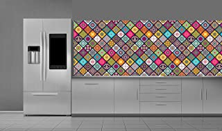 Self-adhesive water-resistant vinyl wallpaper roll for kitchen wall , 2725612226478