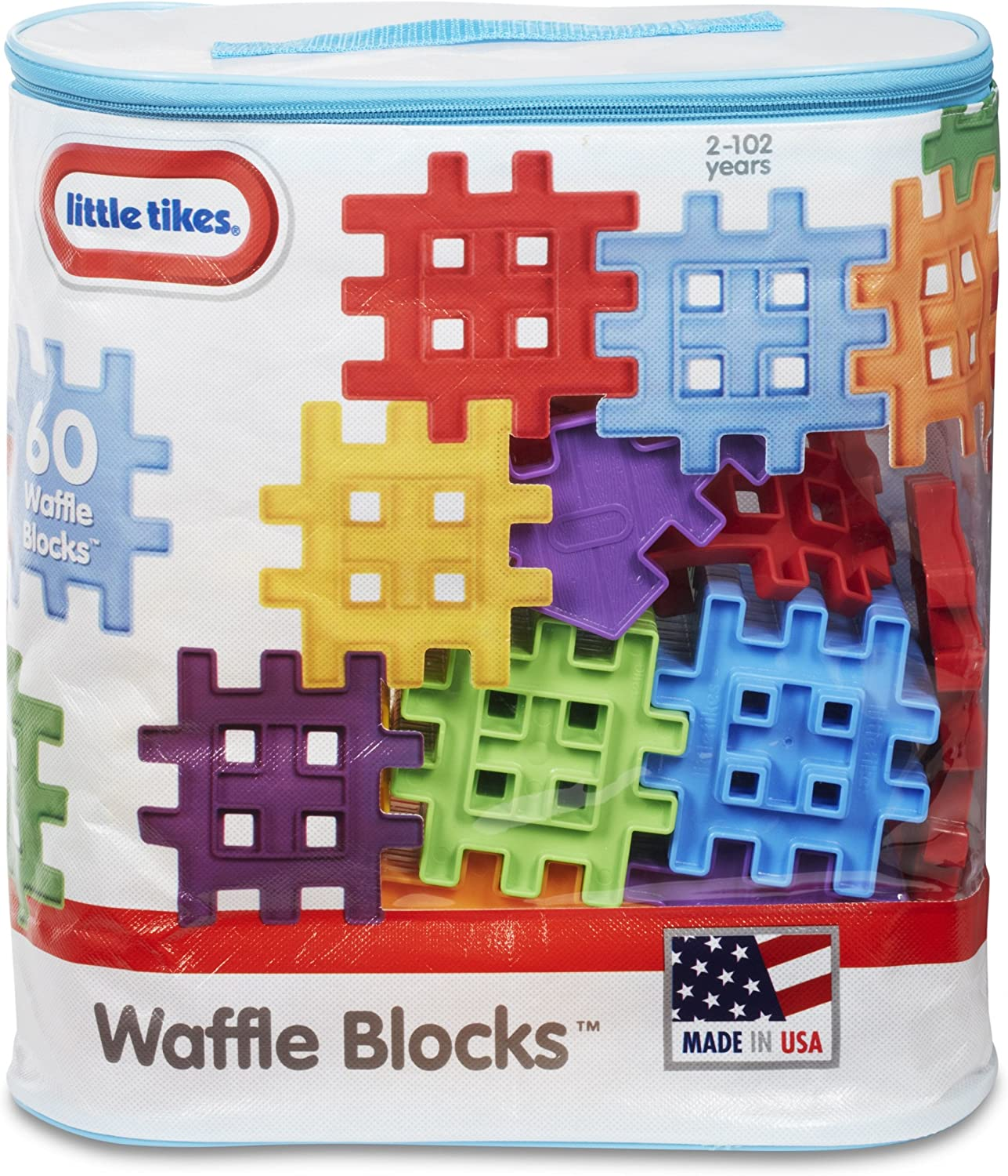 Outlet ☆ Free Shipping Little Tikes Waffle Blocks Bag 60 Piece Safety and trust