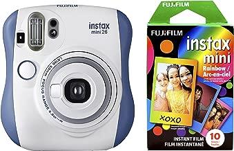 Fujifilm Instax Mini 26 + Rainbow Film Bundle - Blue/White