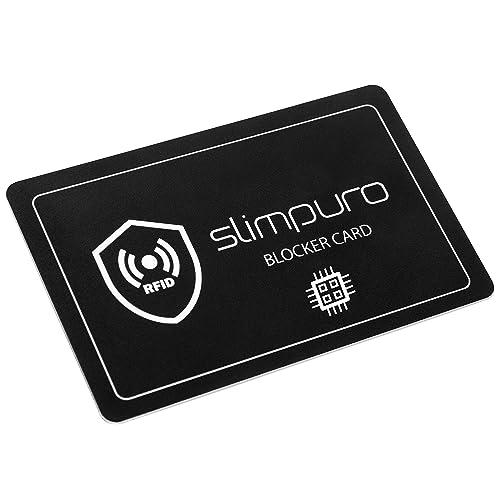 RFID Blocker Karte NFC Schutzkarte - Störsender Technologie 2019 | Eine Karte schützt | Nur 1,0 mm dünn | Keine Schutzhüllen mehr | 100% Schutz Dank E-Field | Kreditkarte Schutz EC Karte
