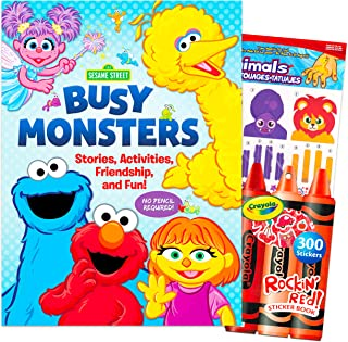 Sesame Street Activity Book Set Sesame Street Book for Boys Girls - Sesame Street Activity Book for Toddlers Kids with Rew...