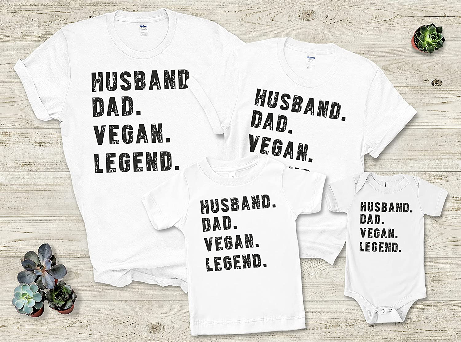Father Mother Parents Day 2021 Husband Dad Vegan Legend Custom Personalized Family T-Shirt Gifts
