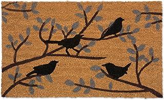 """DII Animal Collection Natural Coir Doormat, 18x30"""", Birds & Branches"""