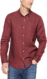 French Connection Men's Linen Long Sleeve Classic